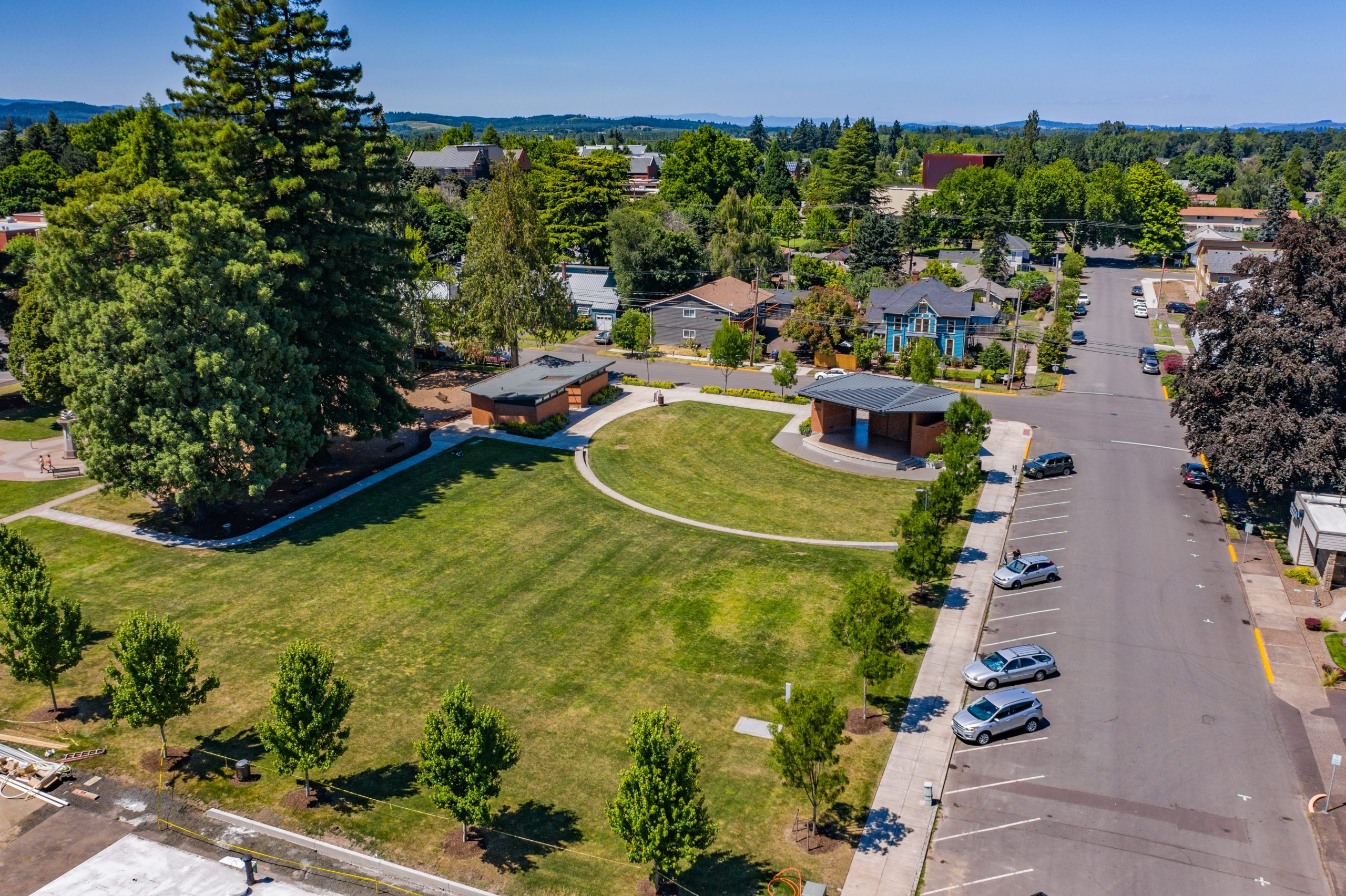 Arial View of Main Street Park in Monmouth